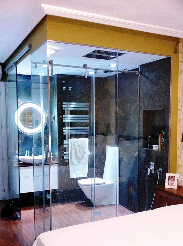 Pincel cristal mamparas de ba o y puertas de cristal - Cristales para puertas de salon ...