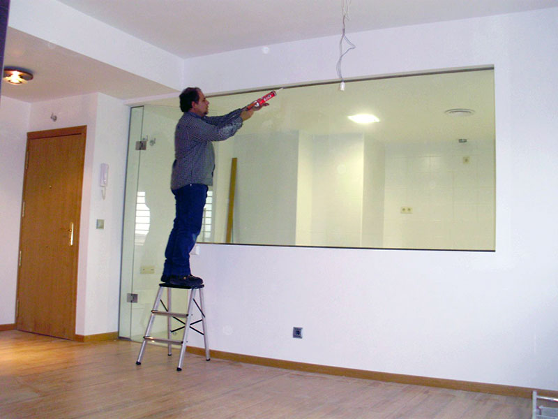 Puerta panel cristal mueble cocina - Cocinas con puertas de cristal ...