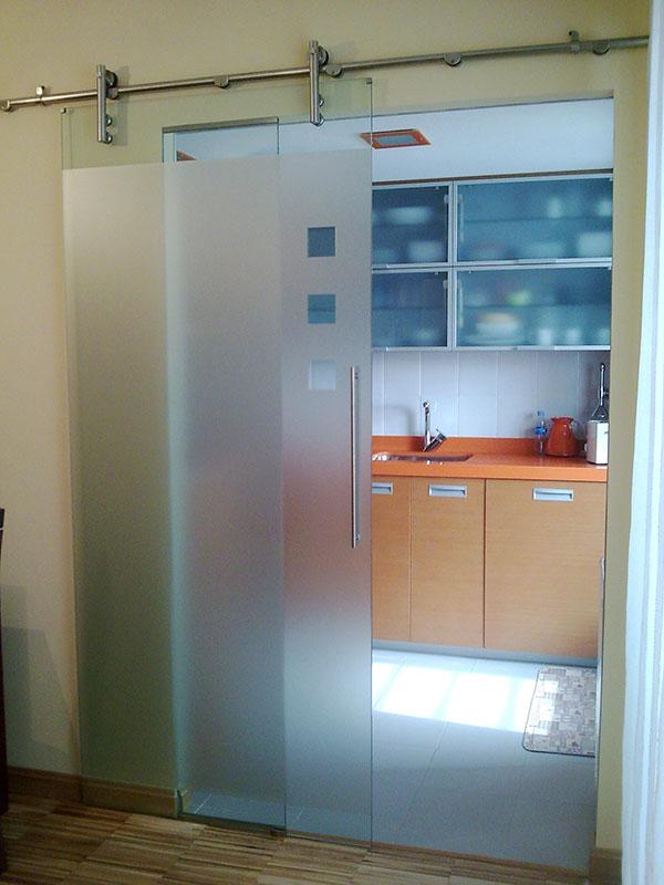 Pincel cristal mamparas de ba o y puertas de cristal - Cocinas con puertas de cristal ...