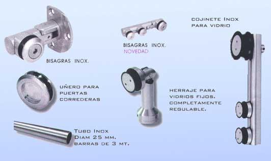 Pincel cristal mamparas de ba o y puertas de cristal - Herrajes de acero inoxidable ...