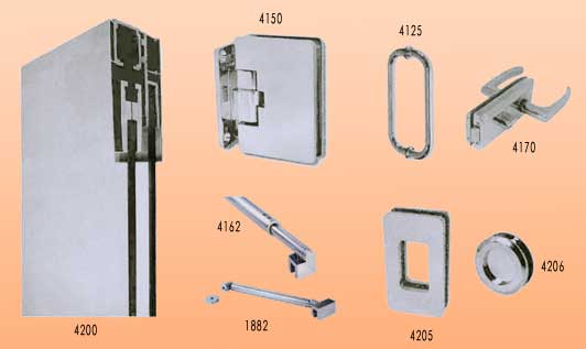 Pincel cristal mamparas de ba o y puertas de cristal for Herrajes puertas cristal