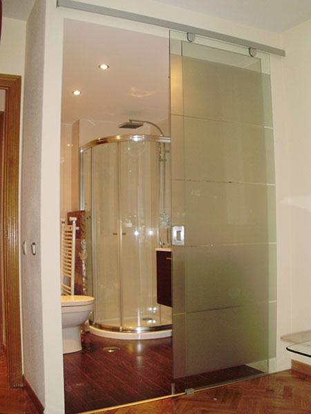 Pincel cristal mamparas de ba o y puertas de cristal con bisagra o corredera - Puertas correderas banos ...