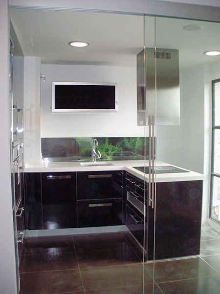 Pincel cristal mamparas de ba o y puertas de cristal con - Puertas de cristal para cocinas ...